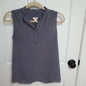 J.crew factory sleeveless blouse sz 2
